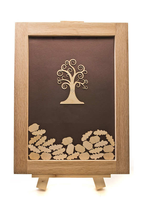 tree drop top guest book, well personalised