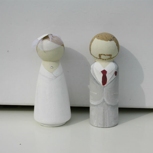 Bride and Groom Cake Topper , Lotty Lollipop, great british wedding