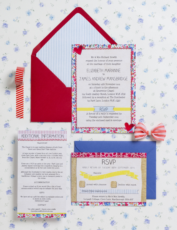 Country Fete Wedding Invitation Suite, Hip Hip Hooray