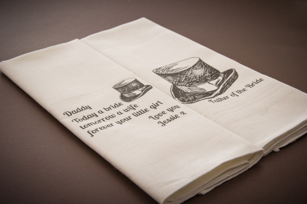wedding tea towel , well personalised