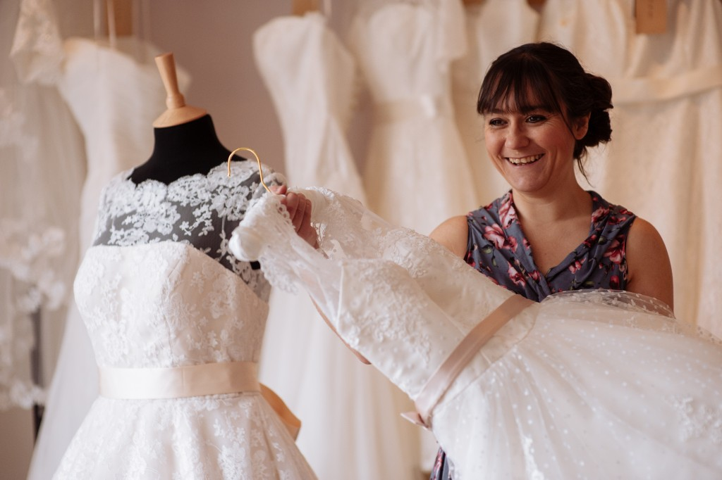Lace & Co bridal boutique, yorkshire bridal boutique, image Toast of Leeds , Heidi Waring - owner