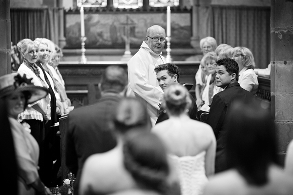 waiting groom, church, david perkins wedding photography