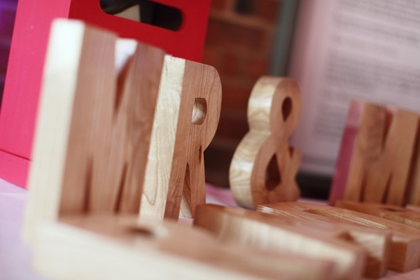 Mr And Mrs Large Wooden Letters: Hattie And James Wonderful Worcestershire Wedding At The