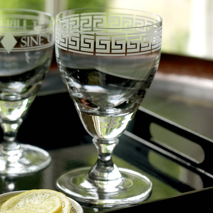 Greek Inspired Wedding Theme, Greek Key Goblets , JoJo Glass Design, NOTHS