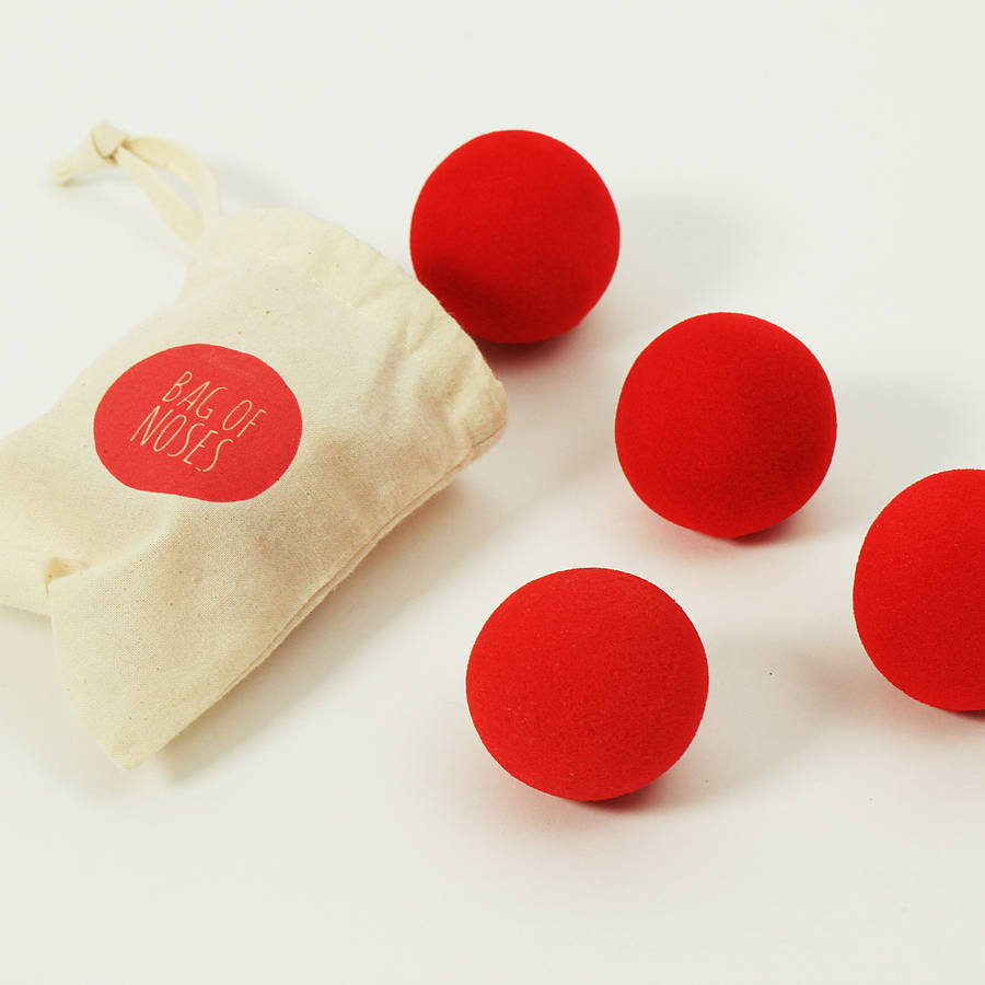 clown-noses-in-a-bag, postbox party , circus party theme
