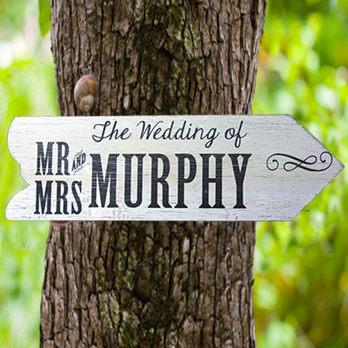 wedding sign, well personalised