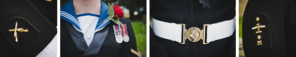 Cloud9-Wedding-Photography, navy uniform details