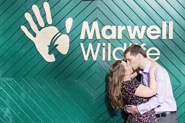 Engagement shoot, marwell zoo, hannah mcclune photo