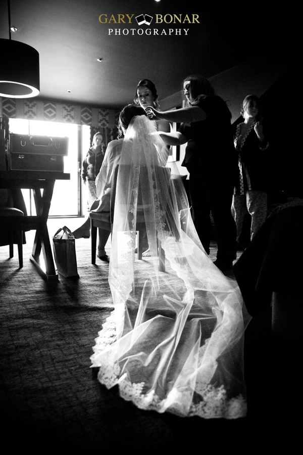 bridal preparations, gary bonar photography , veil - etiquette bridal couture