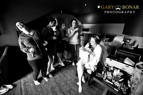 bridal prep fun, gary bonar photography