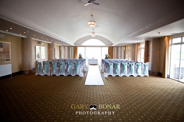 lochside house hotel, ceremony setup, gary bonar photography