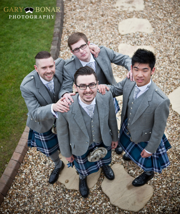 groom and groomsmen , gary bonar photo
