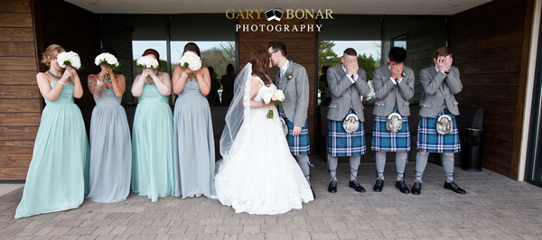 bridesmaids, groomsmen, bride and groom, gary bonar photo