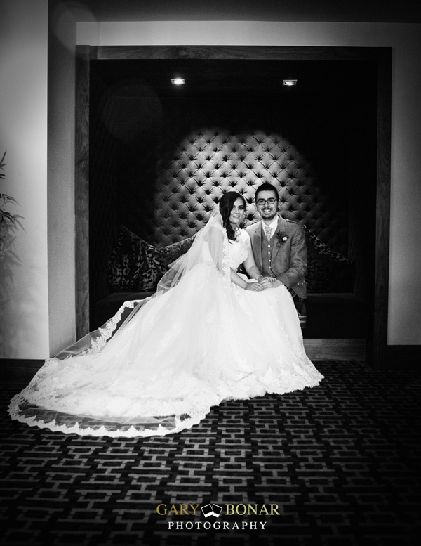 bride and groom, lochside house hotel, gary bonar photo