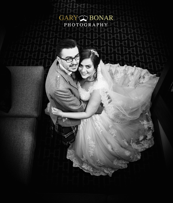 portraits, gary bonar photo, bride and groom, lochside house hotel