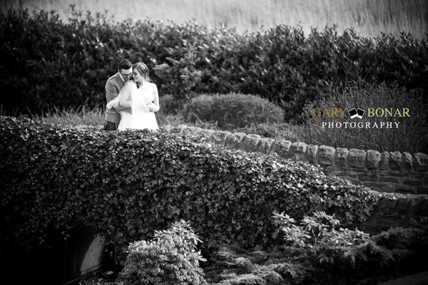 lochside house hotel, bridge, bride and groom, gary bonar photo