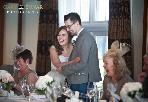wedding speeches, lochside house hotel, gary bonar photo