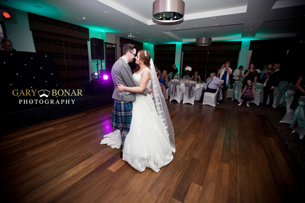first dance, the kilted dj, lochside house hotel, gary bonar photo