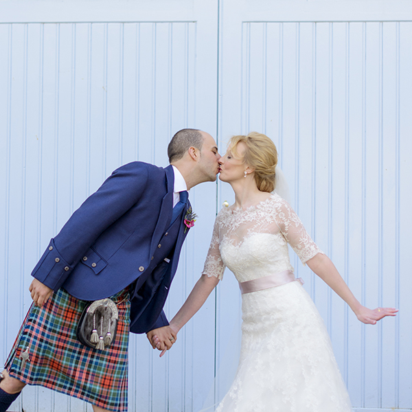A Maggie Sottero Dress For An Edinburgh Wedding At The