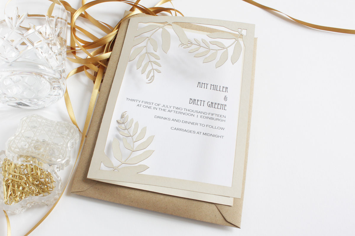 Elegant and Luxurious Laser Cut Wedding Stationery from Mr Yen Designs