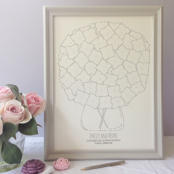 nature and typography inspired, wedding stationery, alfie winn designs, guest book alterative,