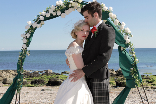 , beach wedding, kintyre, saddell estate, gillian glover maclean photography