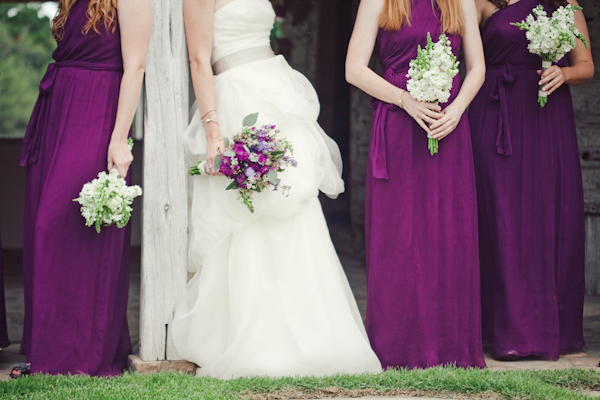 Southern-wedding-plum-bridesmaid-dresses, the nichols