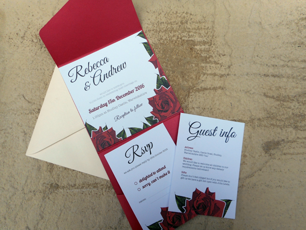 Beauty invitation, clink design, wedding stationery