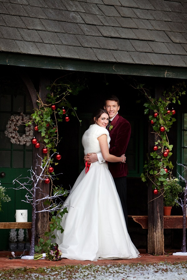 Bride & Groom at The Summerhouse in Ceremony Pose 2