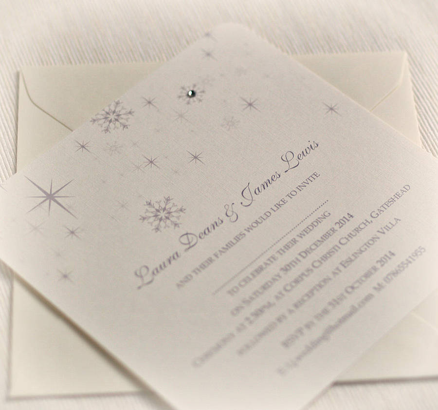 snowflake-winter-themed-wedding-invitations, beautiful day stationery , frozen wedding theme
