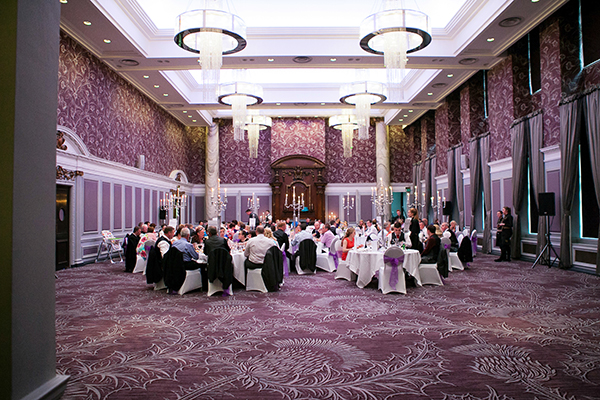 A Lovely Glasgow Wedding With Purple Accents At The Grand