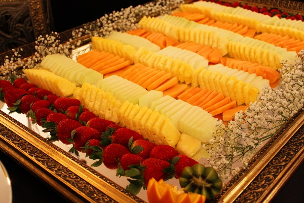 I love fruit displays and carvings for weddings