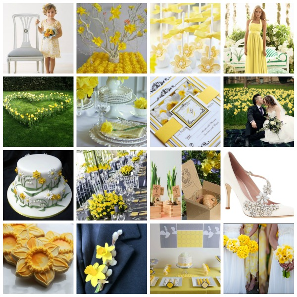 A Year of Creativity 2014 ,  Daffodil inspired Wedding Theme ,  Daffodil inspired Wedding  ideas,  Daffodil inspired Wedding  styling,  Daffodil inspired Wedding  moodboard