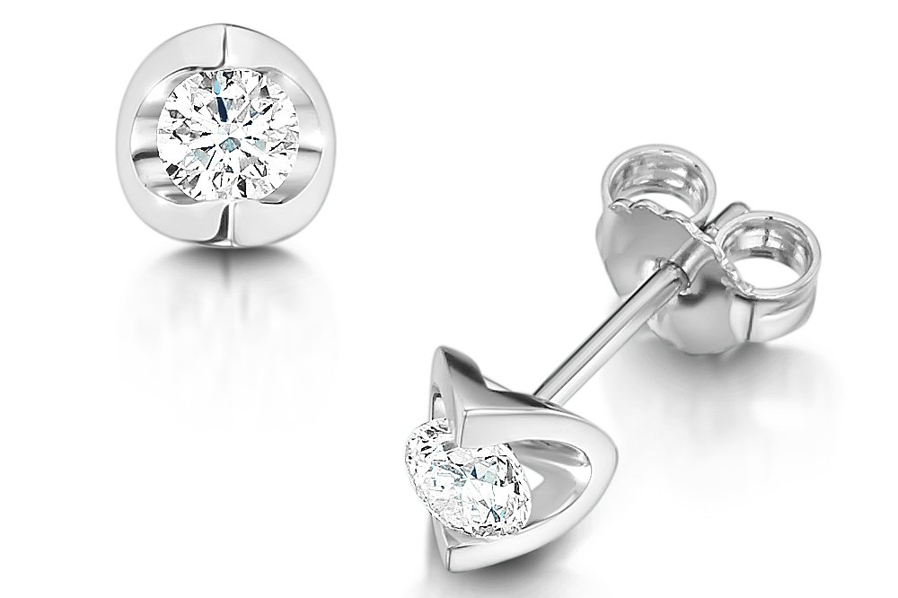 brilliant-cut-diamond-set-earrings, laings the jewellers glasgow, bridesmaid gifts