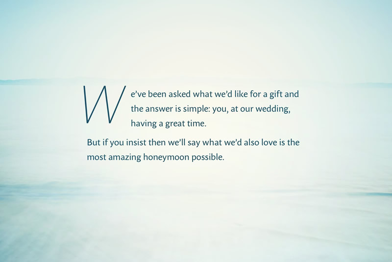 The Heart of What They Do?A Gift List alternativeThe Honeymoon ...