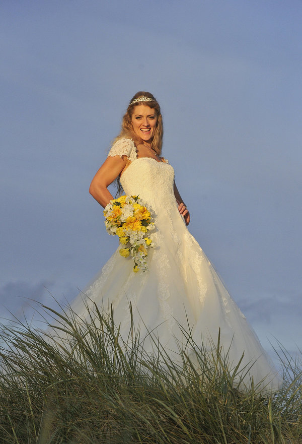A gorgeous beach inspired wedding with sprinkles of yellow, handmade ...