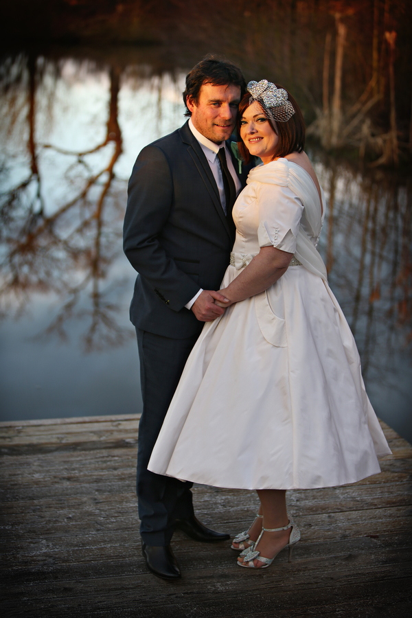A 50s Themed Valentines Day Wedding With A Hint Of Silver And Green