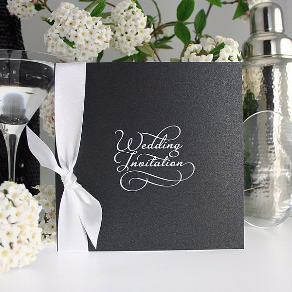 Classic Script Black, wedding invitation, olivia samuel, personalised wedding invitation