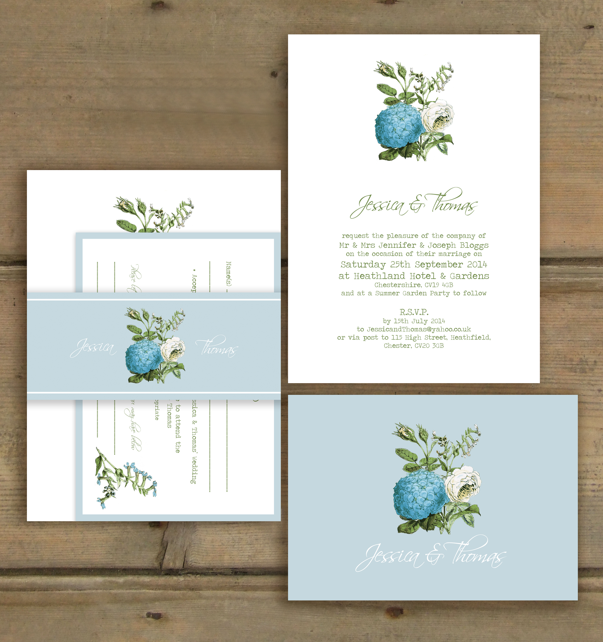 Colourful & Personal Wedding Stationery from Knots & Kisses - UK ...