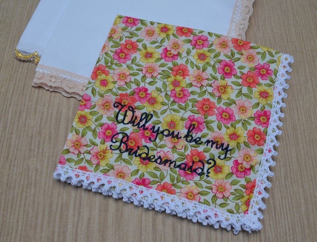 will you be my bridesmaid handkerchief, Wedding Handkerchiefs for the Bridemaid,  embroidered handkerchiefs, Happy Hanky, mens handkerchiefs, monogrammed handkerchiefs, personalised handkerchiefs, plain handkerchiefs, printed handkerchiefs, The Handkerchief Shop,  vintage handkerchiefs, wedding handkerchiefs, womens handkerchiefs, bridal handkerchiefs