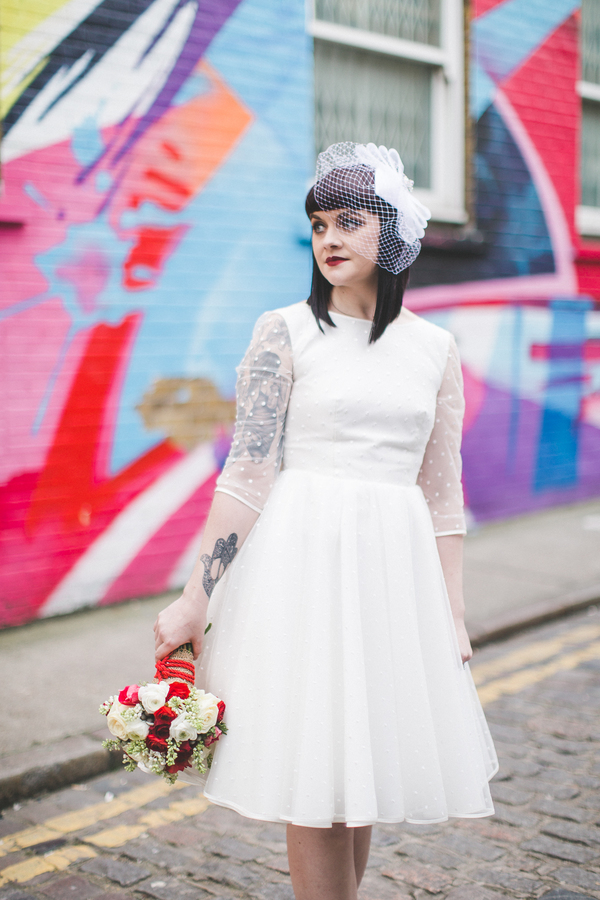An Alternative Wedding styled shoot in Brick Lane and Shoreditch