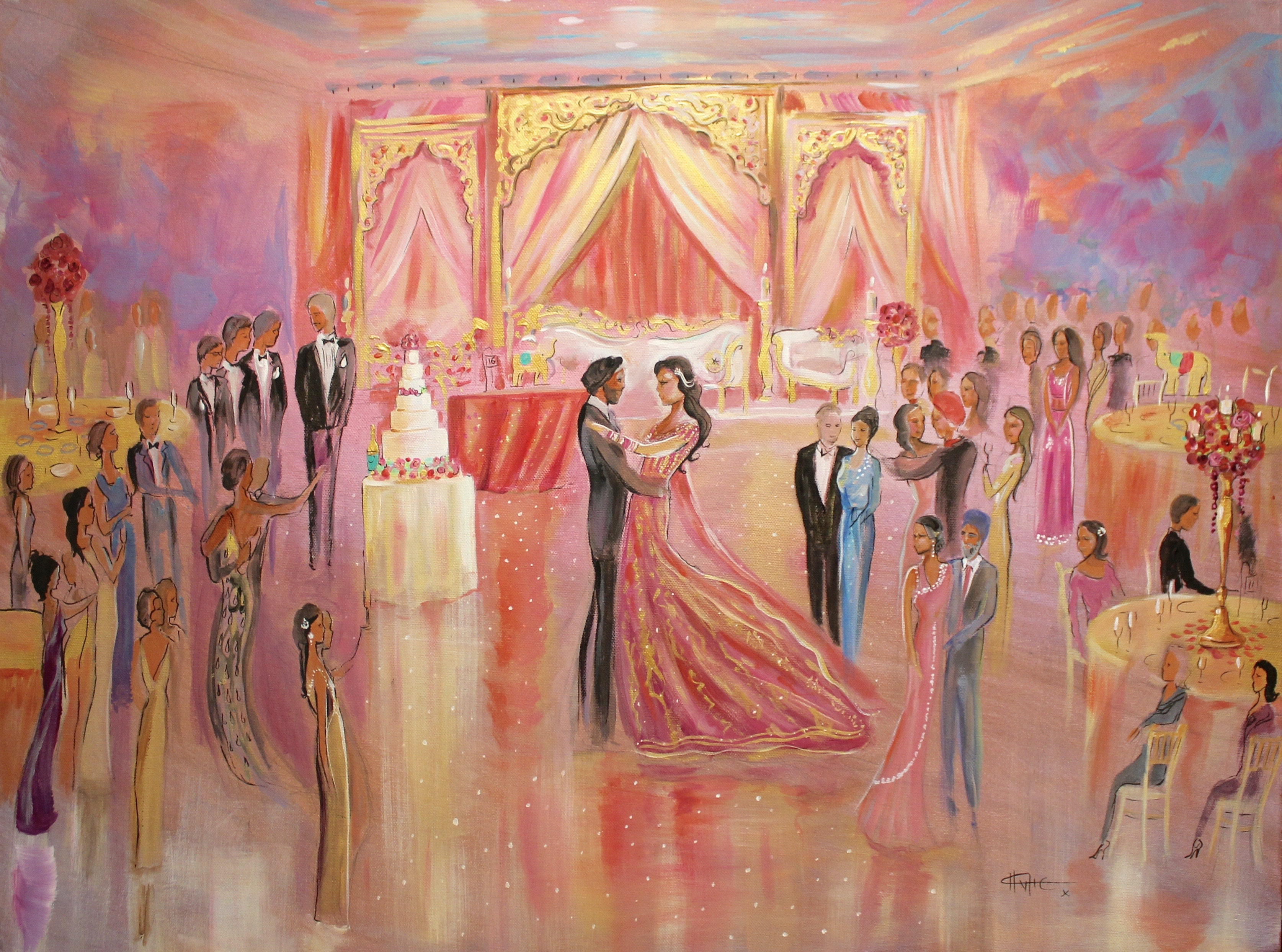 charlotte atkinson live wedding paintings the art of