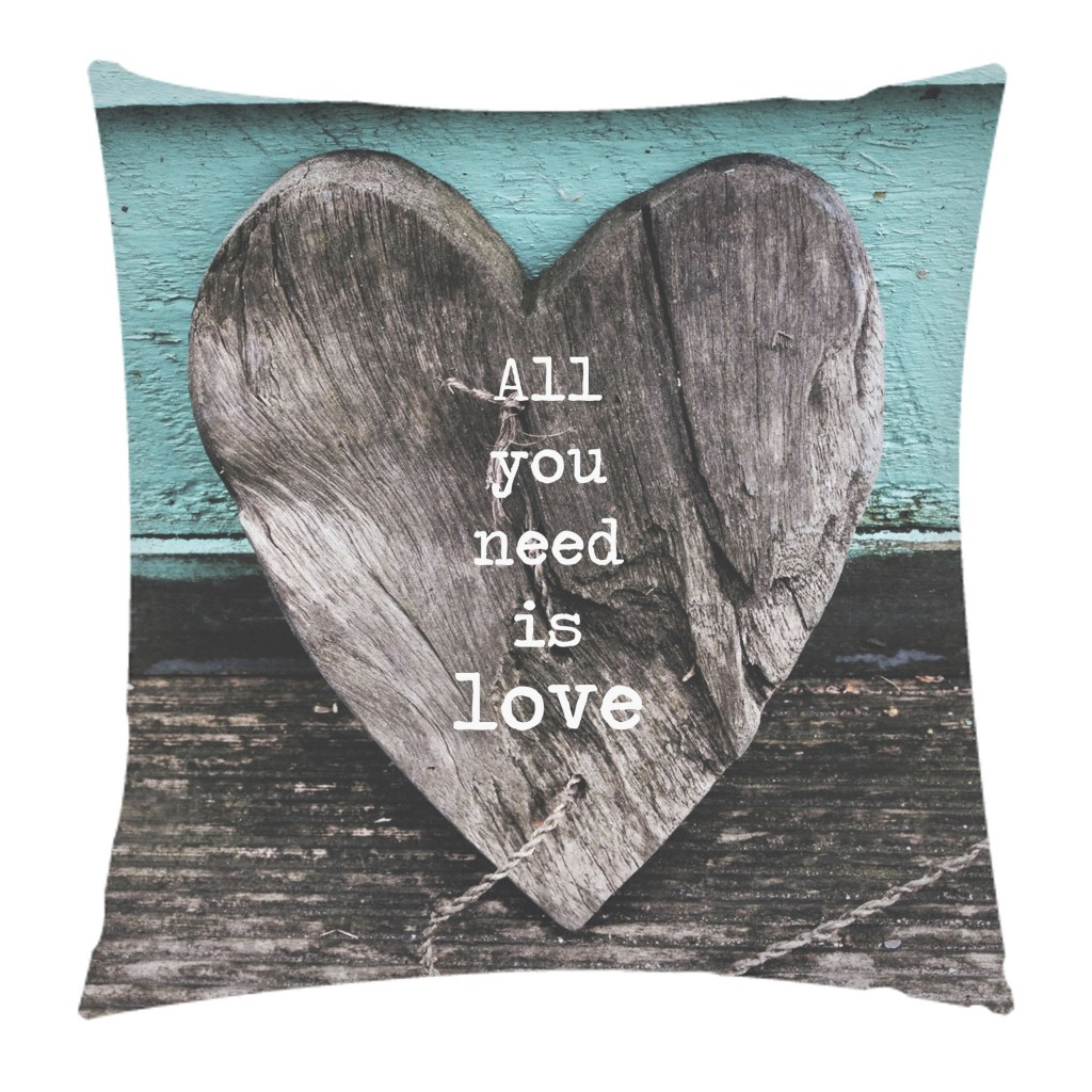 All you need is Love cushion, Art Rookie, Artist  - Jo Thearle - Seagrass Photography