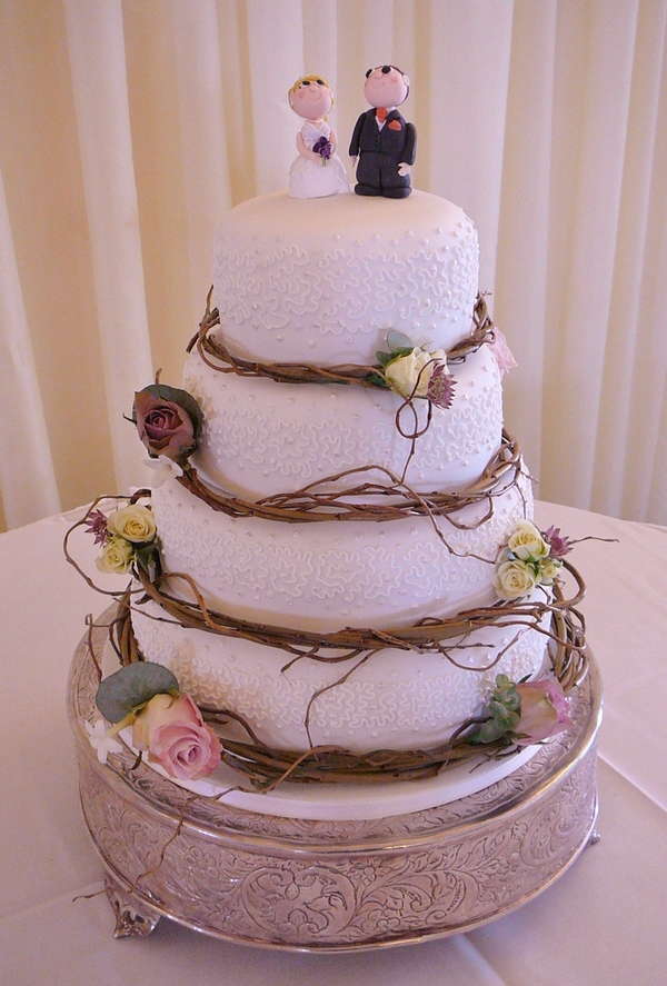 4 Tier With Willow Wedding Cake Vegan Gluten Free