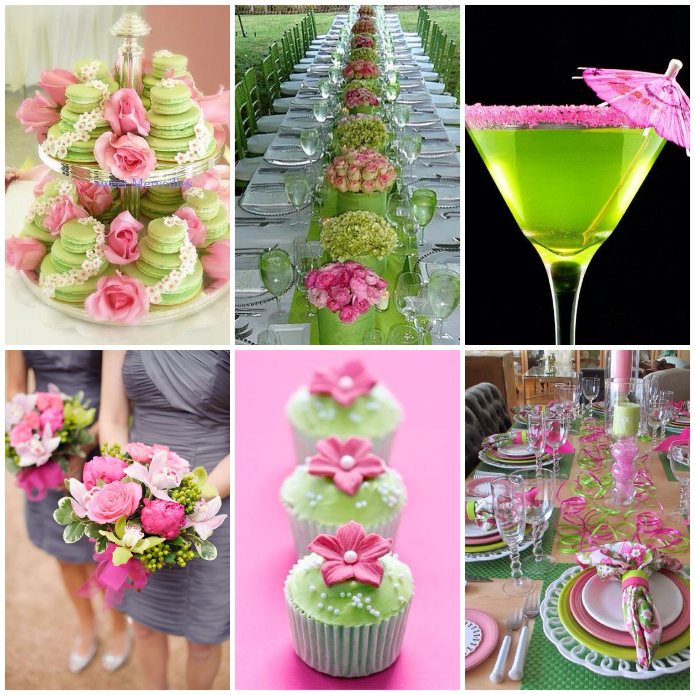 pinterest board, image credit - pinterest, pink and lime wedding moodboard, pink and lime wedding pinterest board