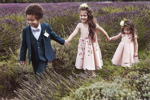 monsoon bridal, flowergirl dress, bridesmaid dress, pageboy outfit