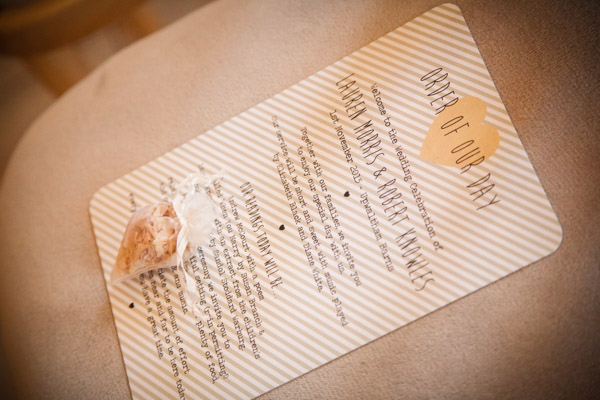 Upwaltham Barns Wedding | FitzGerald Photographic, winter wedding, wedding stationery, order of the day