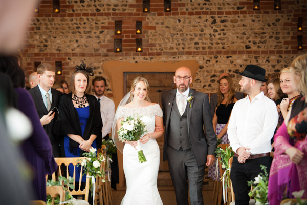 Upwaltham Barns Wedding | FitzGerald Photographic, winter wedding, arrival of the Bride