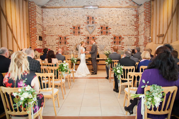 Upwaltham Barns Wedding | FitzGerald Photographic, winter wedding, wedding ceremony