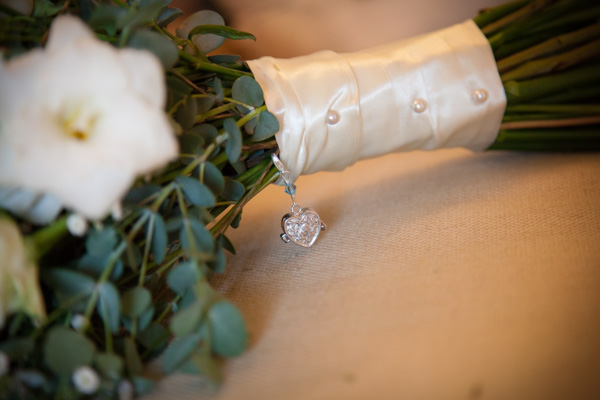 Upwaltham Barns Wedding | FitzGerald Photographic, bouquet trinket, winter wedding